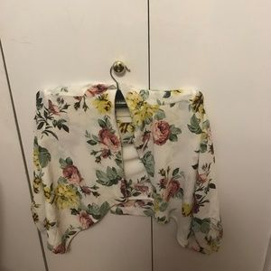 White Floral Top